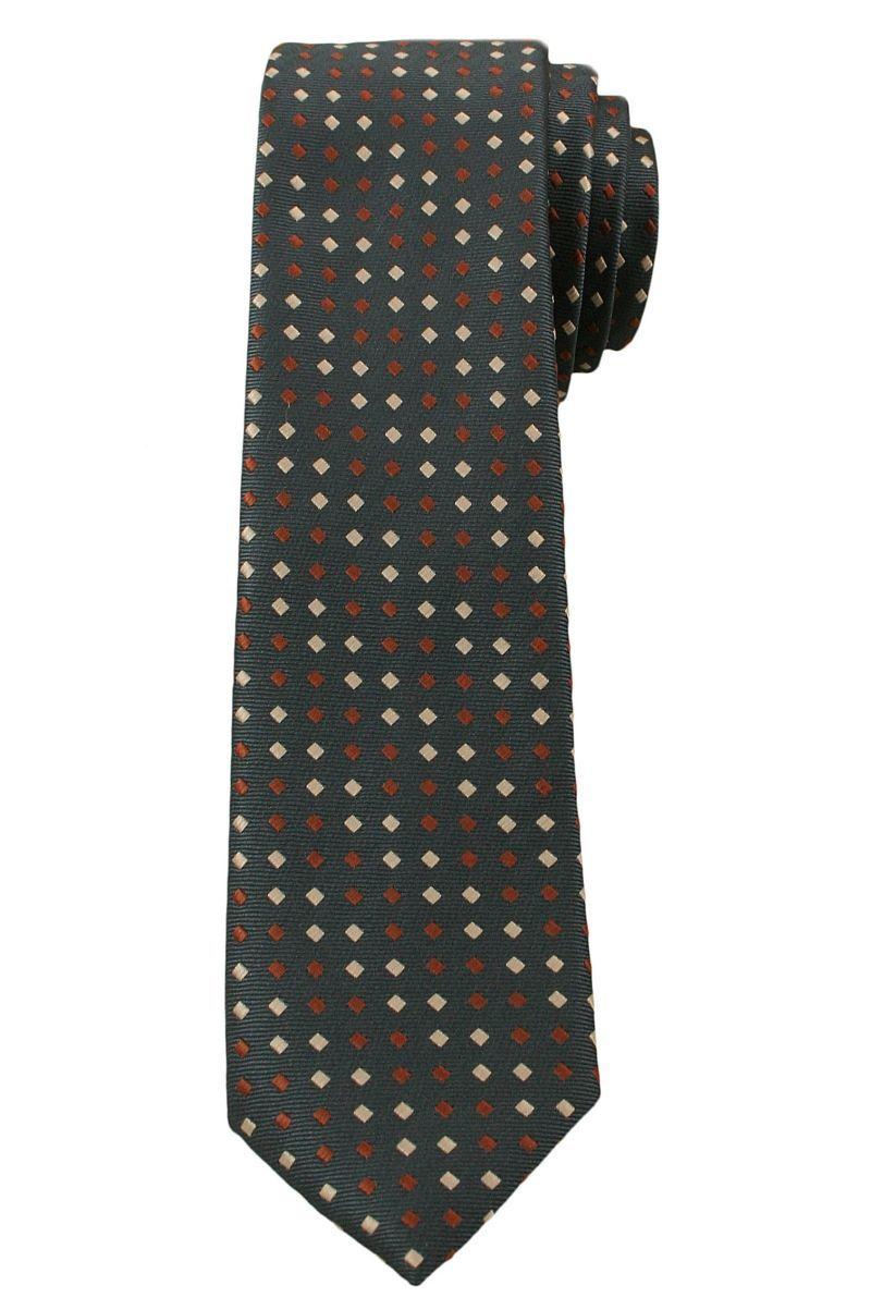Krawat Męski, Beżowo-Brązowe Romby - 6 cm - Angelo di Monti, Kolorowy KRADM1373