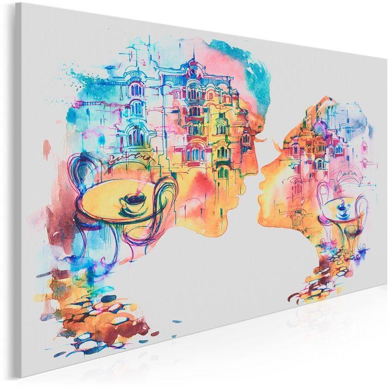 Romans w Barcelonie - nowoczesny obraz na płótnie - 120x80 cm