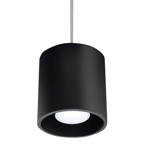 Lampa wisząca Orbis tuba czarna 1 punktowa SL.0051 - Sollux // Rabaty w koszyku i darmowa dostawa od 299zł !