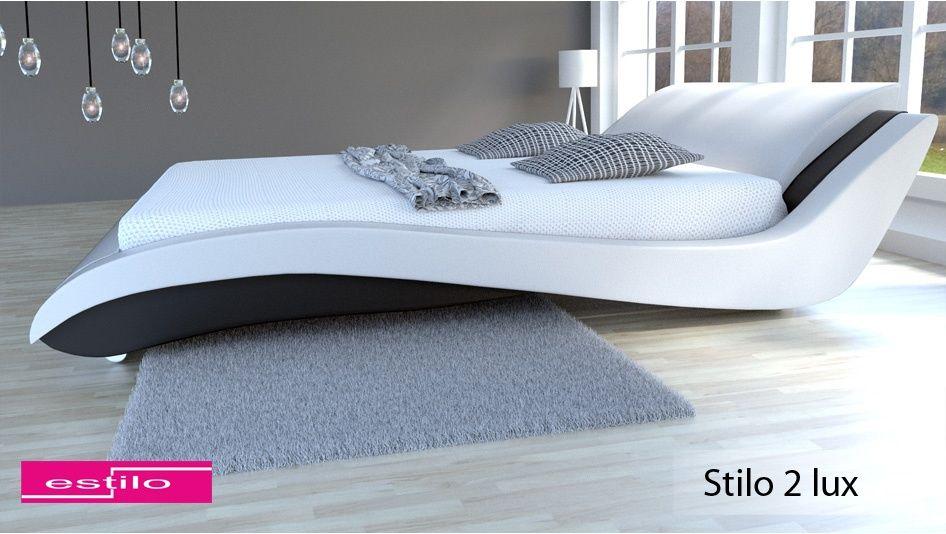 Łóżko do sypialni Stilo-2 Lux skóra naturalna, 160x200