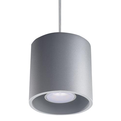 Lampa wisząca Orbis szara tuba 1 punktowa SL.0052 - Sollux // Rabaty w koszyku i darmowa dostawa od 299zł !