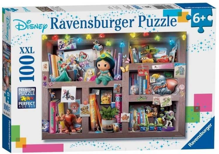 Puzzle 100 Disney bohaterowie XXL - Ravensburger