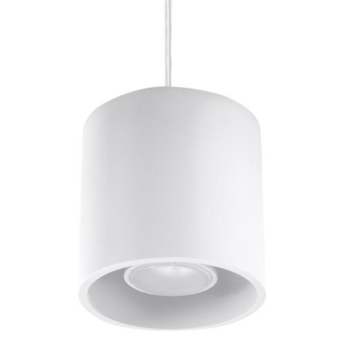 Lampa wisząca Orbis biała 1 punktowa GU10 tuba SL.0053 - Sollux // Rabaty w koszyku i darmowa dostawa od 299zł !
