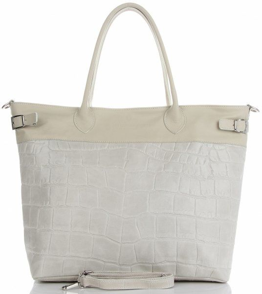 Torebki Skórzane Shopper Bag firmy VITTORIA GOTTI Jasno Szare(kolory)Torebki Skórzane Shopper Bag firmy VITTORIA GOTTI Beżowe (kolory)