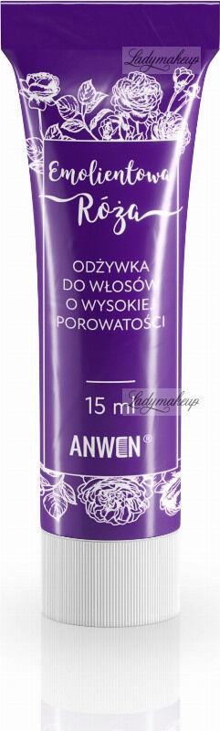 ANWEN - Emolientowa Róża - Mini odżywka do włosów o wysokiej porowatości - 15 ml