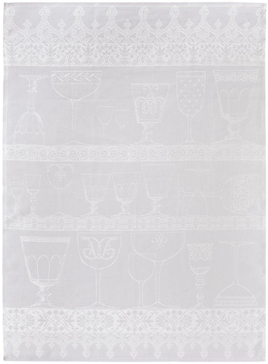 Ściereczka do polerowania szkła Le Jacquard Fran ais Cristal Blanc