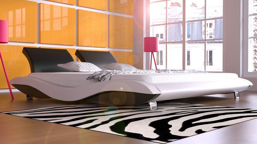 Łóżko do sypialni Aurora skóra naturalna