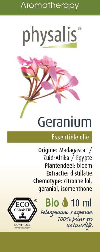 Olejek eteryczny pelargonia (geranium) eco 10 ml - physalis