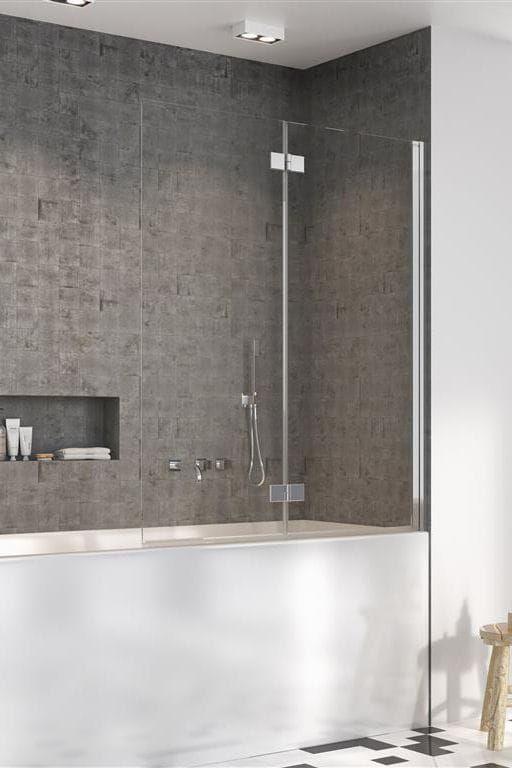 Radaway parawan nawannowy Nes PND I 140 cm prawy, szkło przejrzyste, wys. 150 cm. 10010140-01-01R