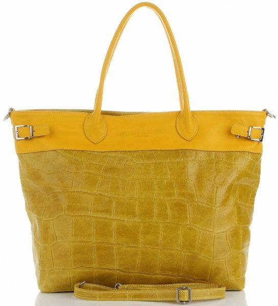 Torebki Skórzane Shopper Bag firmy VITTORIA GOTTI Jasno Szare(kolory)Torebki Skórzane Shopper Bag firmy VITTORIA GOTTI Żółte (kolory)