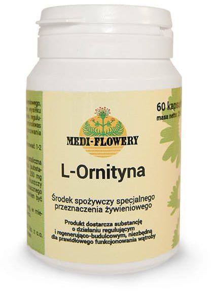 L-Ornityna 250 mg (60 kaps) Aminokwasy Oczyszczanie Organizmu Medi-Flowery