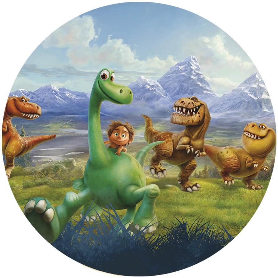 Dekoracyjny opłatek tortowy Dobry Dinozaur - 20 cm