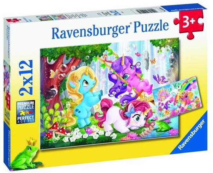 Puzzle 2x12 Magiczne jednorożce 2 - Ravensburger