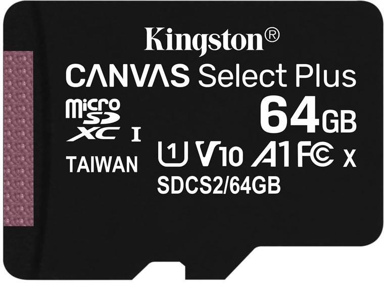 Kingston microSDXC 64GB UHS-1 U1 100R/10W - Karta pamięci