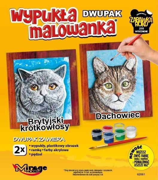 Wypukła malowanka Koty - Brytyjski + Dachowiec - Mirage Hobby