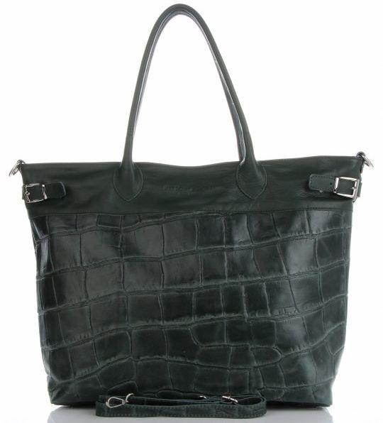 Torebki Skórzane Shopper Bag firmy VITTORIA GOTTI Jasno Szare(kolory)Torebki Skórzane Shopper Bag firmy VITTORIA GOTTI Butelkowa Zieleń (kolory)