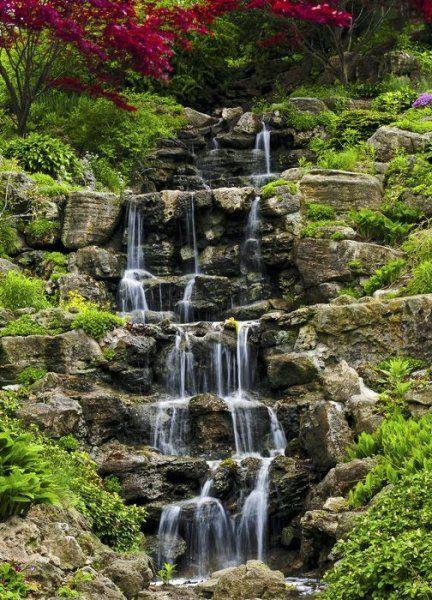 Fototapeta na ścianę - Kaskadowy wodospad - 183x254 cm