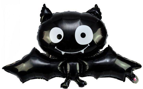 Balon foliowy na Halloween Nietoperz czarny 63x88cm 1 sztuka BLF7294