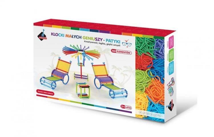 Klocki patyki w pudełku 360 elementów - Askato