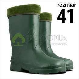 LAHTI PRO Kalosze Damskie z Ociepleniem Zielone PVC K15162