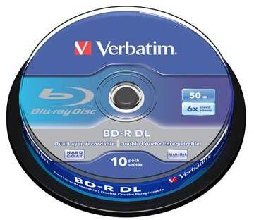 Płyty VERBATIM BD-R Dual Layer 50GB 4x - 10-pack (43746)