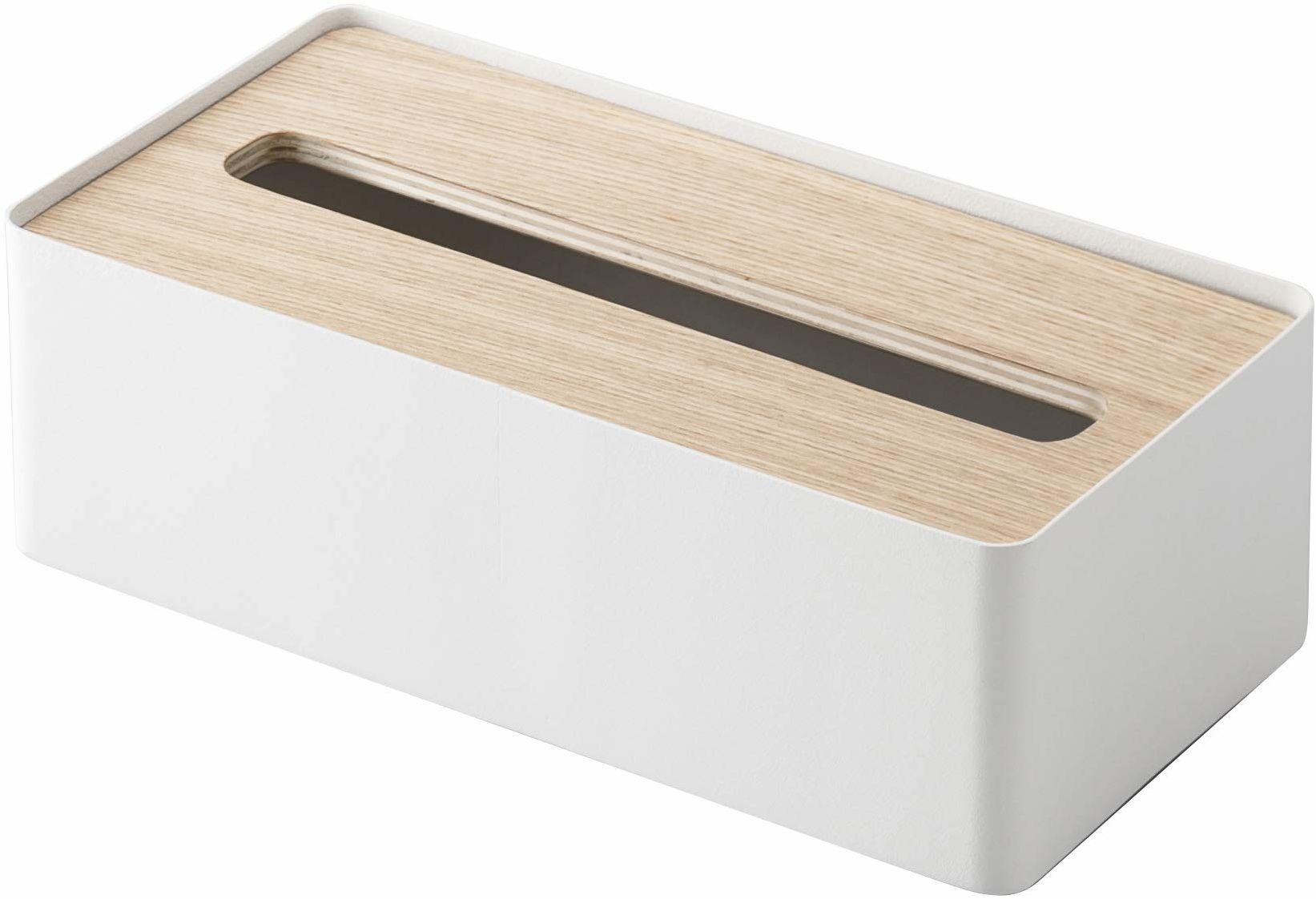 YAMAZAKI Rin pudełko na chusteczki, białe, jeden rozmiar