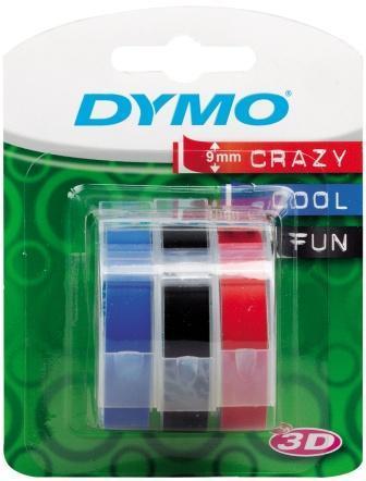Taśma 3D Dymo [S0847750] - 9mm x 3 m - mix kolorów