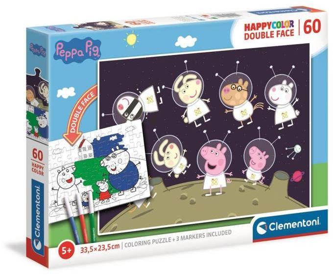 Puzzle 60 happy color Świnka Peppa 26096 - Clementoni