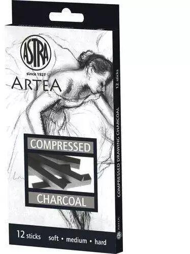 Zestaw węgli prasowanych 12 sztuk ASTRA - ASTRA papiernicze