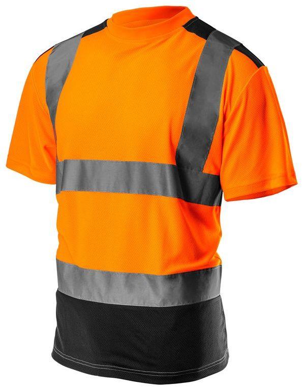 T-shirt ostrzegawczy, ciemny dół, pomarańczowy, rozmiar L 81-731-L