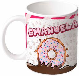 M.M. Group Filiżanka z imieniem i znaczeniem Emanuela, 11 ounces, ceramika, wielokolorowa