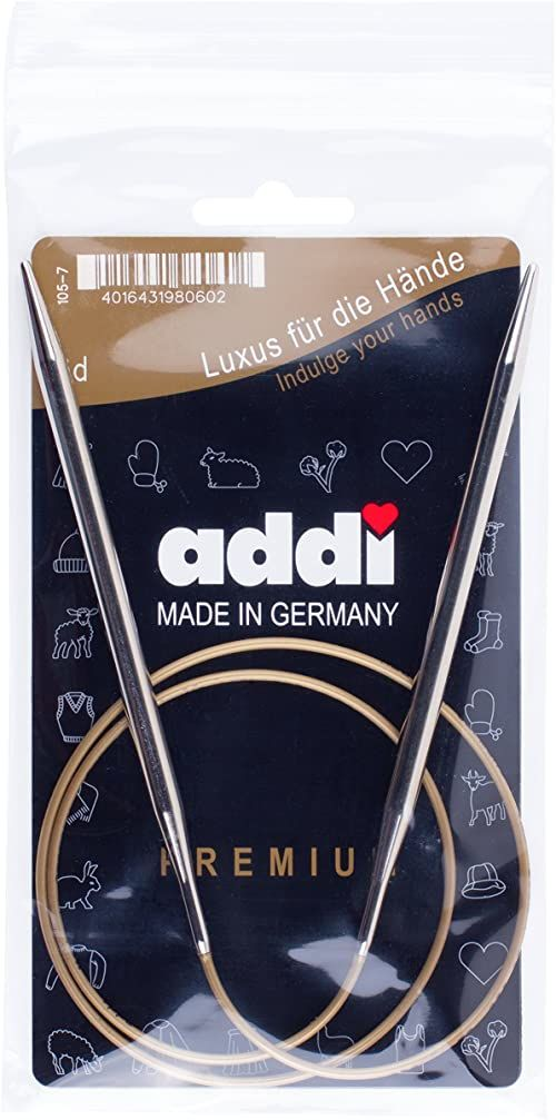 Addi Ad1057080-08.00 Okragle Igly Dziewiarskie, 80 cm Dlugosc x 8,00 mm Grubosc, Srebrny/Zloty