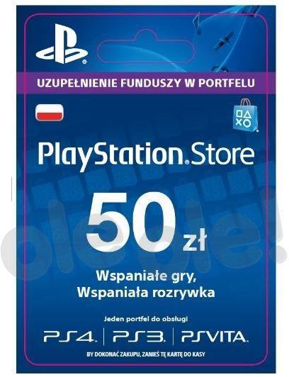 Playstation Network - 50 PLN (wersja cyfrowa - natychmiastowa wysyłka na adres e-mail)
