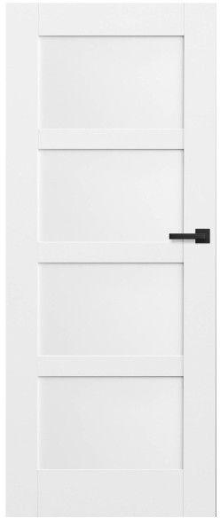 Drzwi bezprzylgowe pełne Connemara 70 lewe kredowo-białe