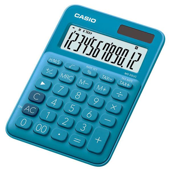 Kalkulator Casio MS-20UC-BU TAX Obliczenia Czasowe
