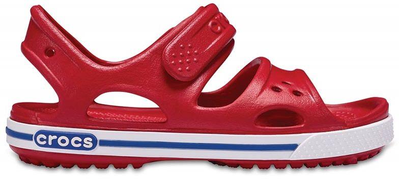 Sandały dziecięce Crocs Crocband II Pepper/Blue Jean czerwone 148546OE