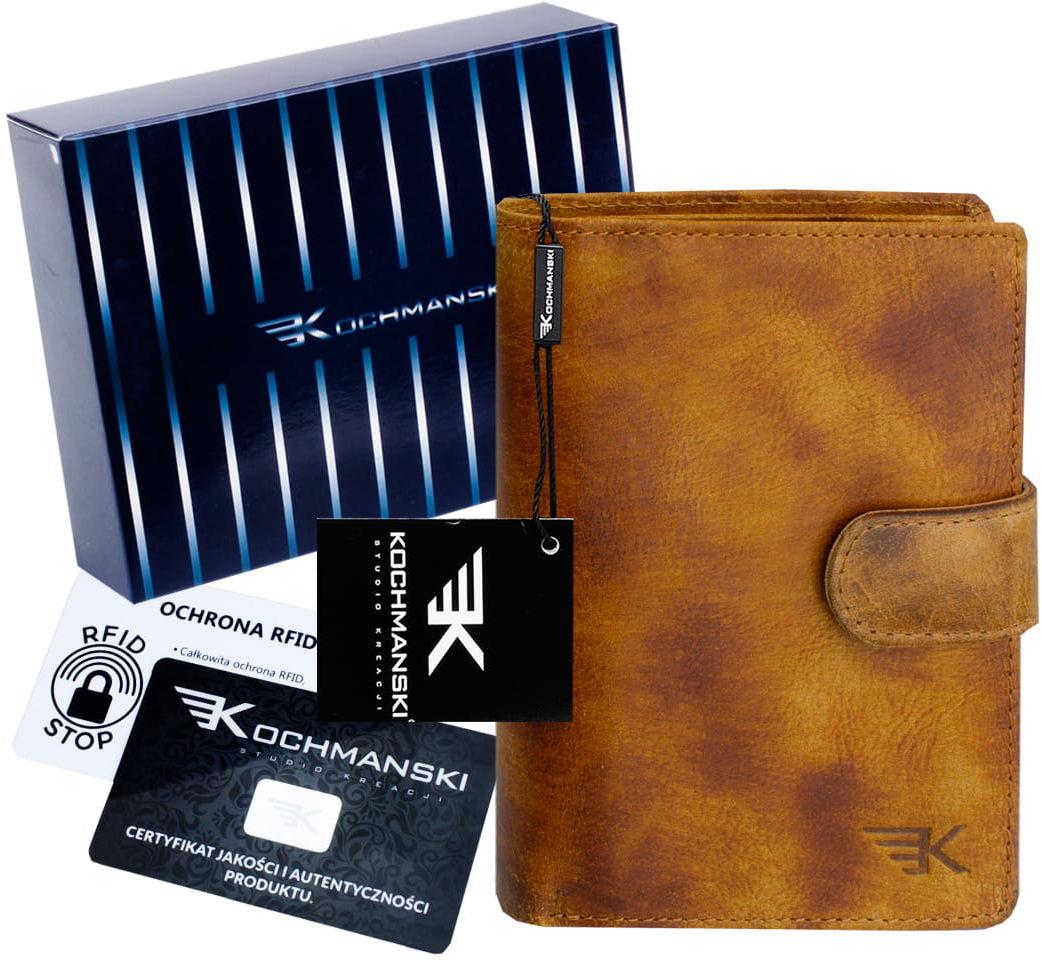 KOCHMANSKI skórzany portfel męski młodzieżowy 3061