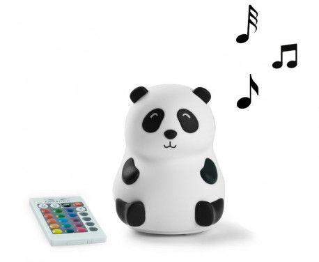 SILIKONOWA LAMPKA do POKOJU DZIECKA, z głośniczkiem i pilotem - RABBIT & FRIENDS Miś Panda
