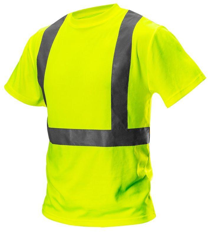 T-shirt ostrzegawczy, żółty, rozmiar L 81-732-L