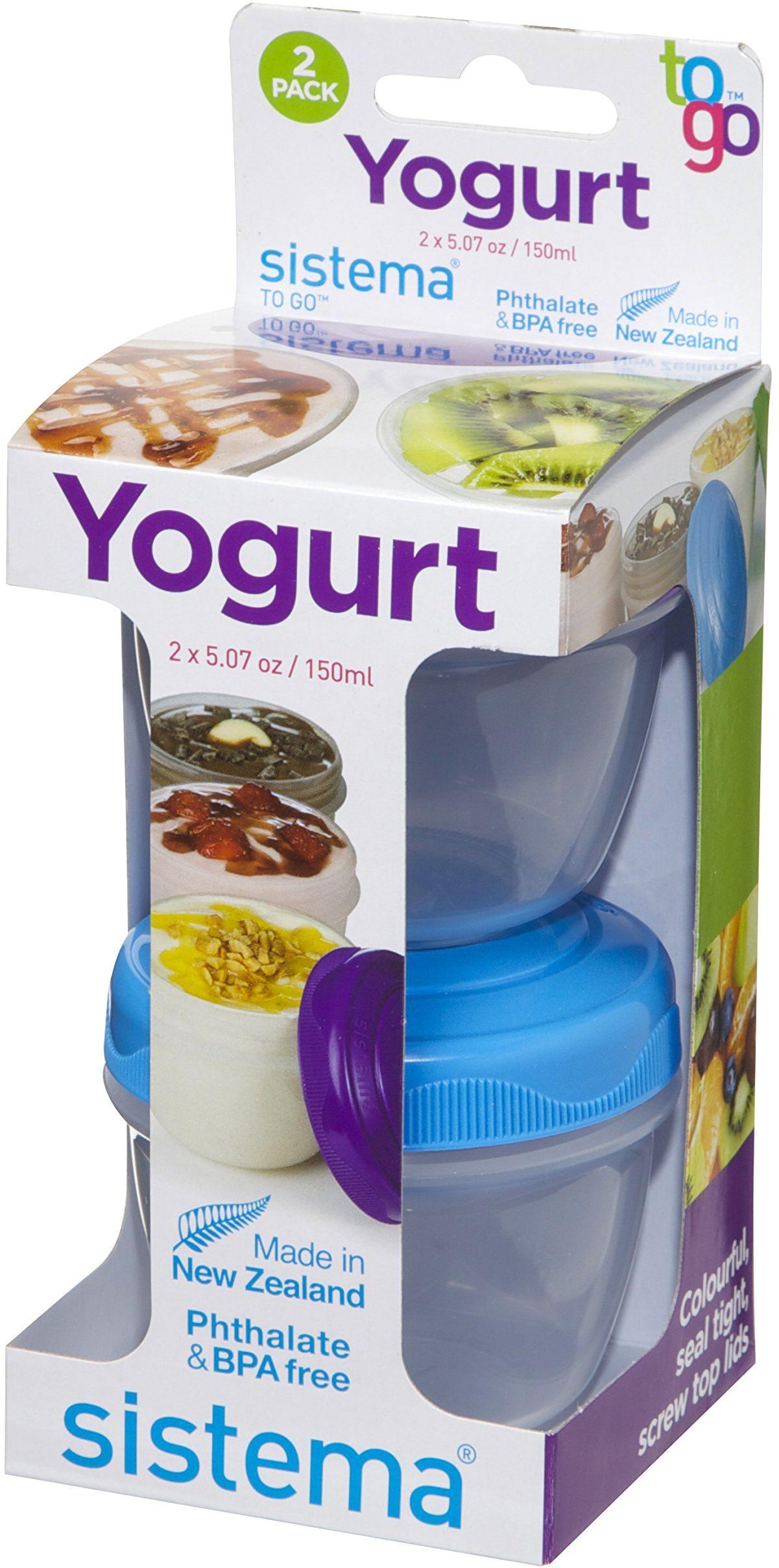 Sistema Yogurt To Go pojemnik okrągły, 150 ml, 2 sztuki w opakowaniu