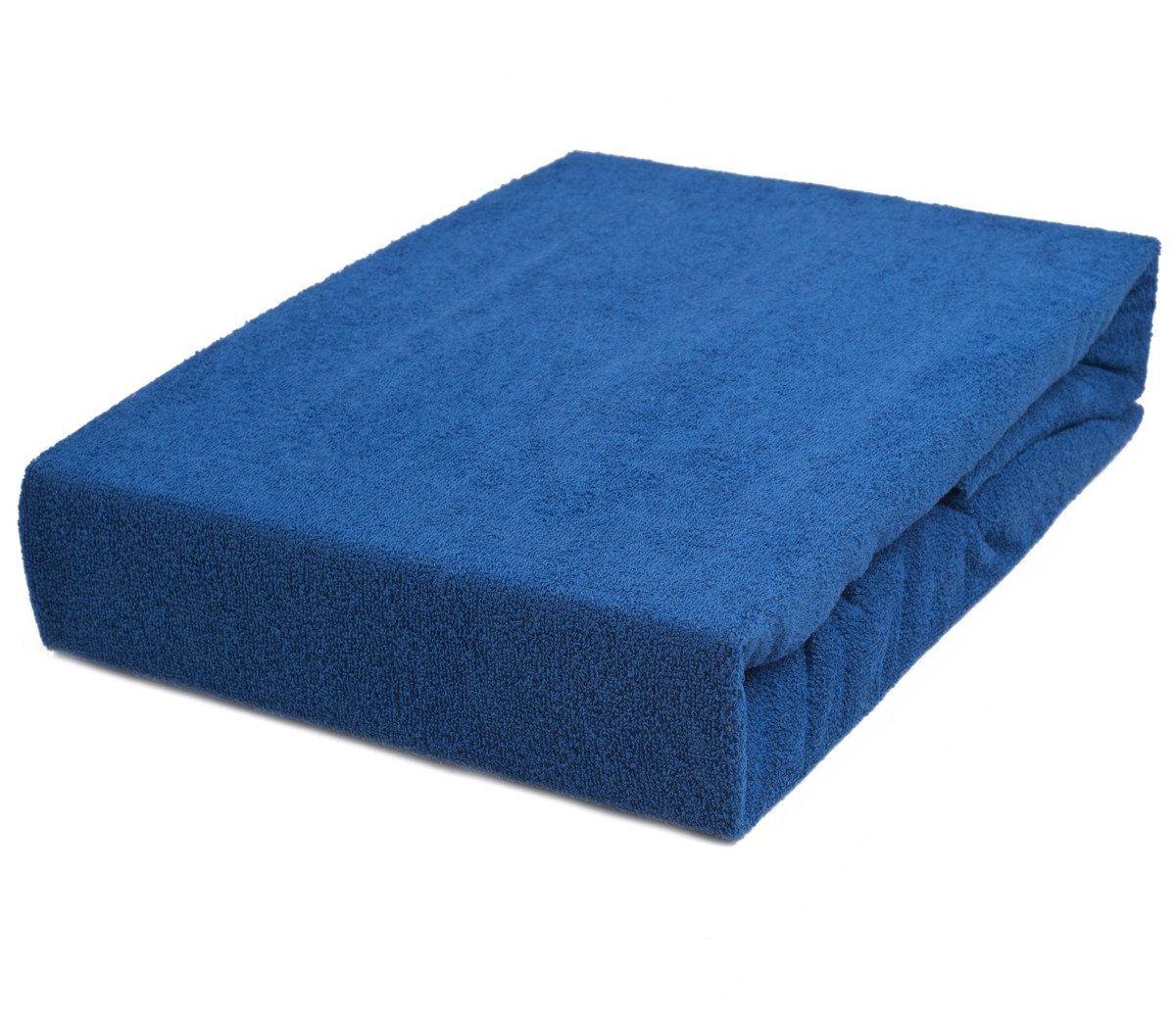 Prześcieradło Frotte ze ściągaczem Homelle Niebieskie
