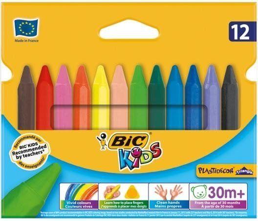 Kredki Plastidecor Triangle KIDS 12 kolorów BIC