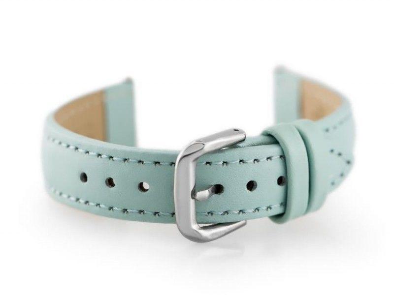 Pasek skórzany do zegarka W30 - w pudełku - jasnoniebieski - 20mm