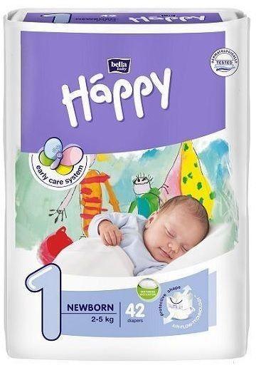 Pieluszki Happy Newborn (1) 2-5kg -42 szt.