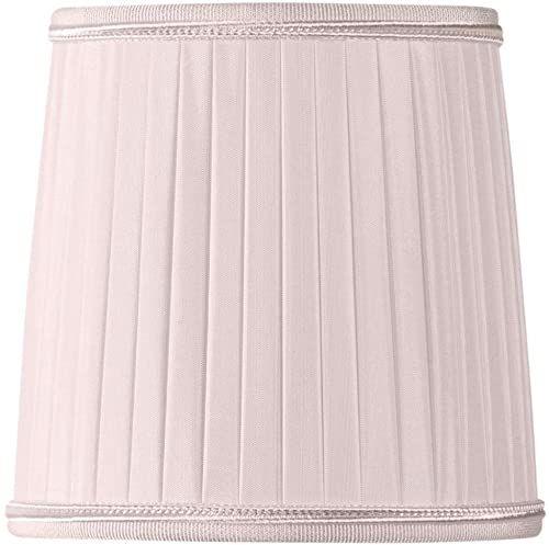 Klosz lampy/szczypce plisowane, płomień, Ø 12 x 10 x 12 cm, różowy