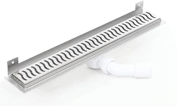 Kesmet Wall Silver Wave odpływ ścienny 500KWF_p 500mm (syfon plastikowy)