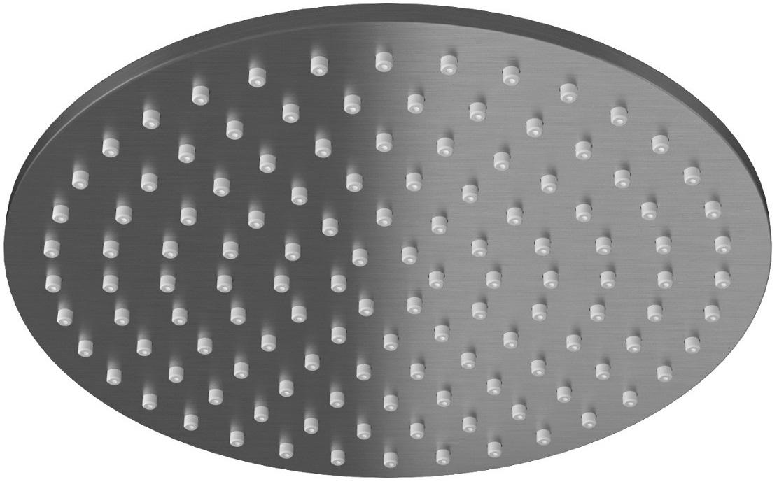Kohlman Experience Gray deszczownica okrągła 25x25cm szczotkowany grafit R25EG