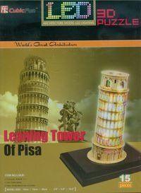 Puzzle 3D Led Krzywa wieża