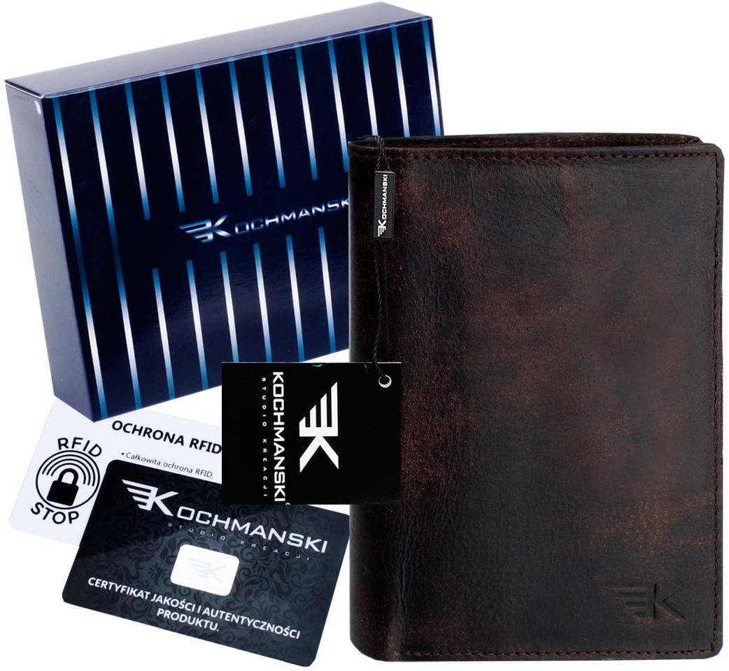 KOCHMANSKI skórzany portfel męski młodzieżowy 3068