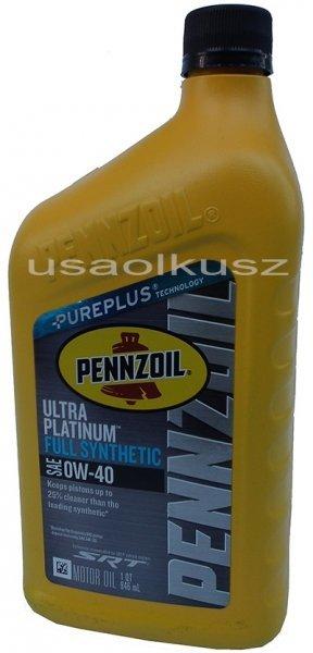Olej PENNZOIL ULTRA 0W40 Dodge Challenger SRT Hellcat